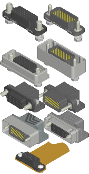 Airborn VERSI Signal Integrity Connectors High-Density / 0.05in Pitch